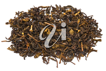 Dry tea isolated on white background