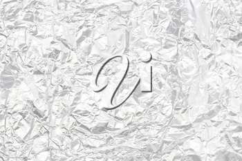 Silver foil with blank space