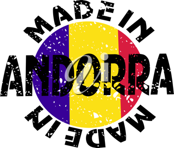Royalty Free Clipart Image of a Label Made in Andorra