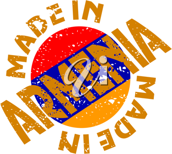 Royalty Free Clipart Image of a Label Made in Armenia