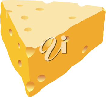 Royalty Free Clipart Image of Swiss Cheese