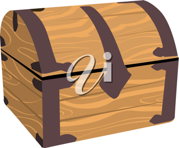 Royalty Free Clipart Image of a Wooden Chest