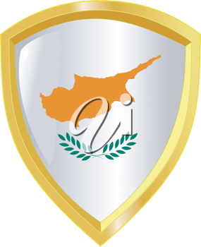 Coat of arms in national colours of Cyprus