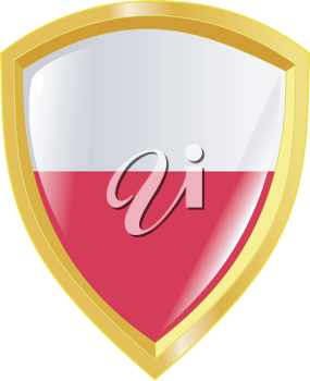Coat of arms in national colours of Poland