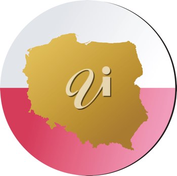 An illustration with button in national colours of Poland