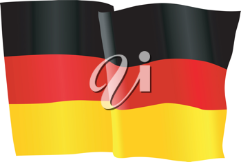 vector illustration of national flag of Germany