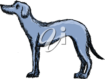 Royalty Free Clipart Image of a Deerhound