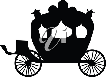 silhouette of carriage
