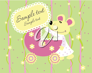 Royalty Free Clipart Image of a Baby Arrival Card