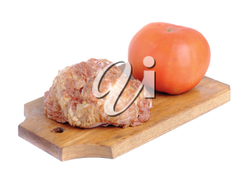 Royalty Free Photo of Ham and a Tomato