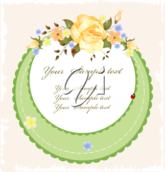Royalty Free Clipart Image of a Vintage Greeting Card