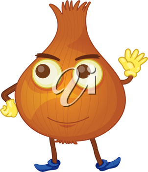 Royalty Free Clipart Image of an Onion