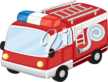 Royalty Free Clipart Image of an Emergency Vehicle