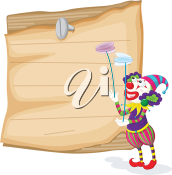 Clowns illustration blank sign