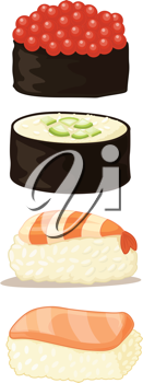 an illustration of various food items