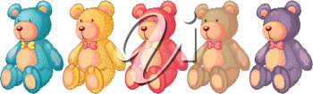 illustration of teddy bears on a white background
