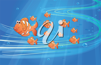 illustration of fishes underwater