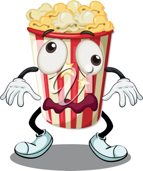 illustration of a popcorn on a white background