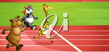 Illustration of an animal marathon