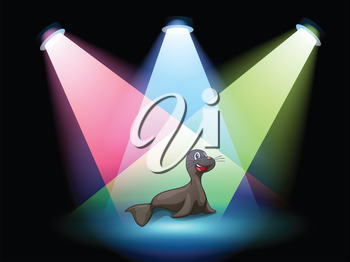 Illustration of a seal in the middle of the stage
