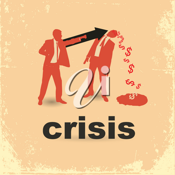Royalty Free Clipart Image of a Financial Crisis Concept