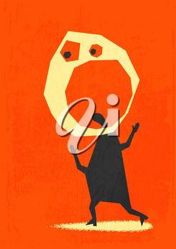 Royalty Free Clipart Image of an Abstract Person
