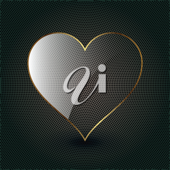 Royalty Free Clipart Image of a Glass Heart