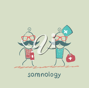 somnology treats a patient
