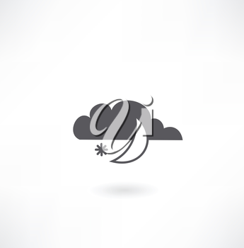 month with cloud icon