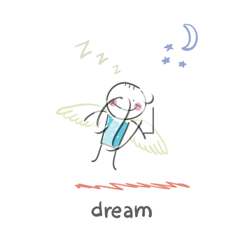 man flying in a dream