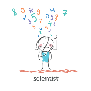 scientist thinks about numbers