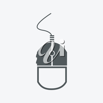 Simple web icon in vector: mouse