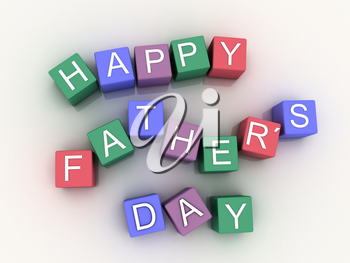 3d image Happy Father´s Days