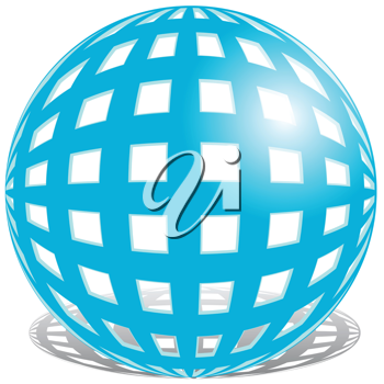 Royalty Free Clipart Image of a Blue Ball