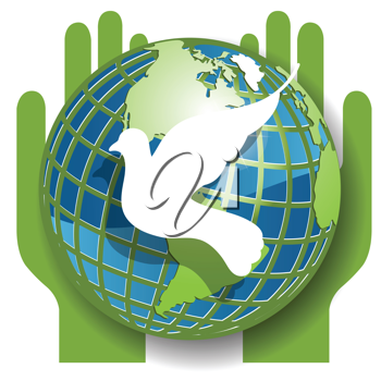 Royalty Free Clipart Image of a World Peace Concept