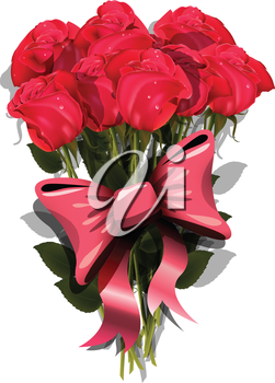 Royalty Free Clipart Image of a Bouquet of Roses