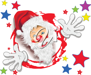 Royalty Free Clipart Image of a Happy Santa