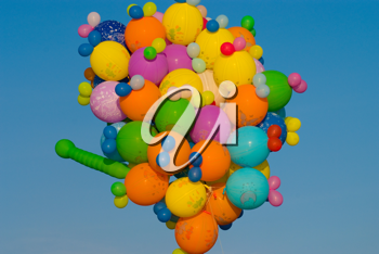 Royalty Free Photo of Balloons in the Sky