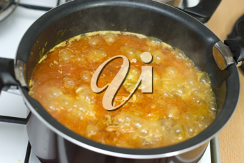 Royalty Free Photo of a Pot of Food