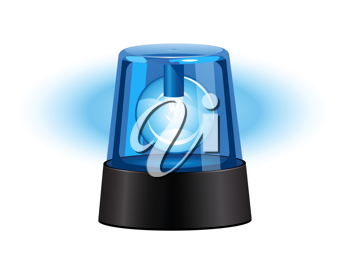 Royalty Free Clipart Image of a Blue Flashing Light