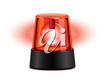 Royalty Free Clipart Image of a Red Flashing Light