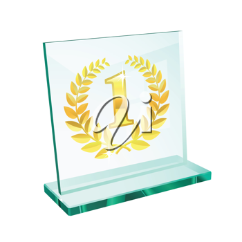 Royalty Free Clipart Image of a First Place Trophy