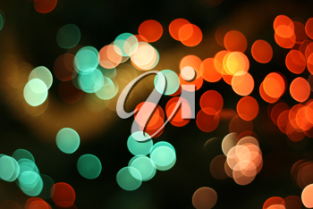 Abstract christmas background, light blur creating very nice bokeh, red and green
