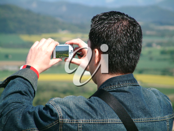 asian man taking a picture