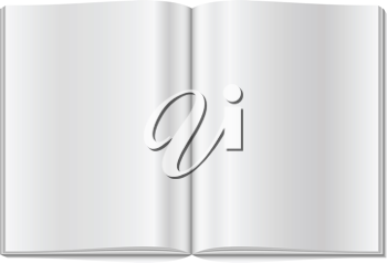 Royalty Free Clipart Image of a Blank Magazine