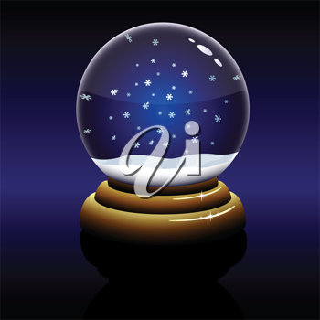 Royalty Free Clipart Image of a Snowglobe