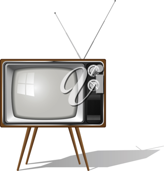 Royalty Free Clipart Image of a Retro Television
