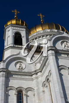 Royalty Free Photo of Cathedral of Christ the Savior in Moscow Russia