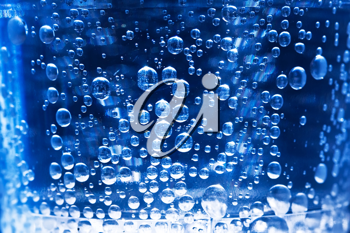 Royalty Free Photo of Bubbles in a Glass of Water