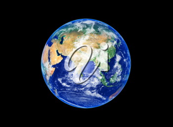 Royalty Free Photo of Earth Showing Asia